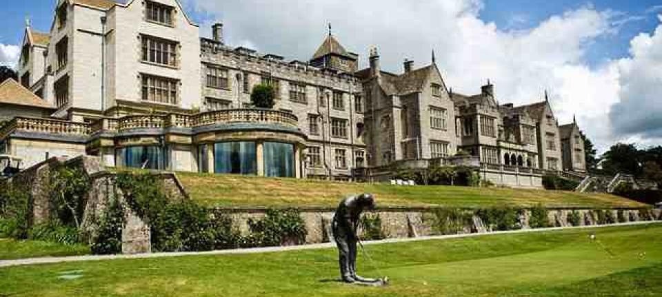 Bovey castle sur son golf.