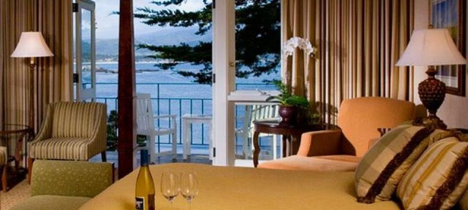 Une chambre du Pebble Beach resort.
