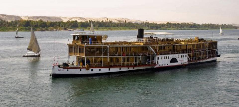 Le Steam Ship Sudan à Assouan sur le Nil
