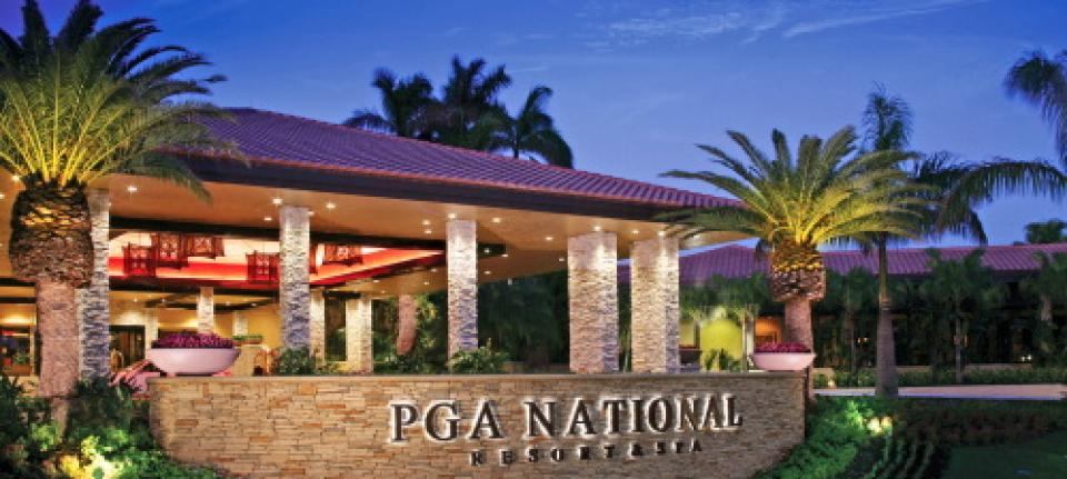 L'entrée du PGA National Resort & Spa