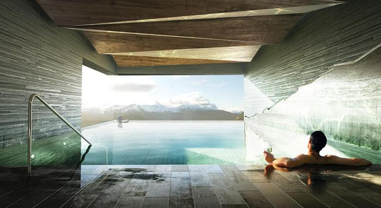 H tels spa la montagne for Design hotel vals