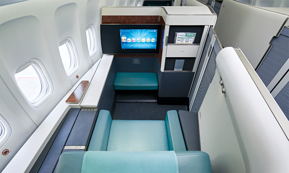 Une cabine FIRST de Korean Air.