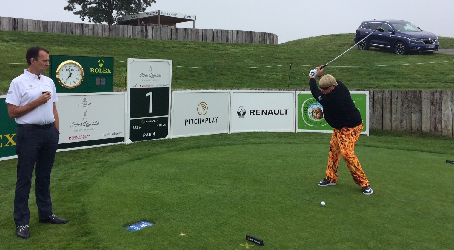 John Daly et David MacLaren au Paris Legends Championship 2017 Crédit photo : Nathalie Vion
