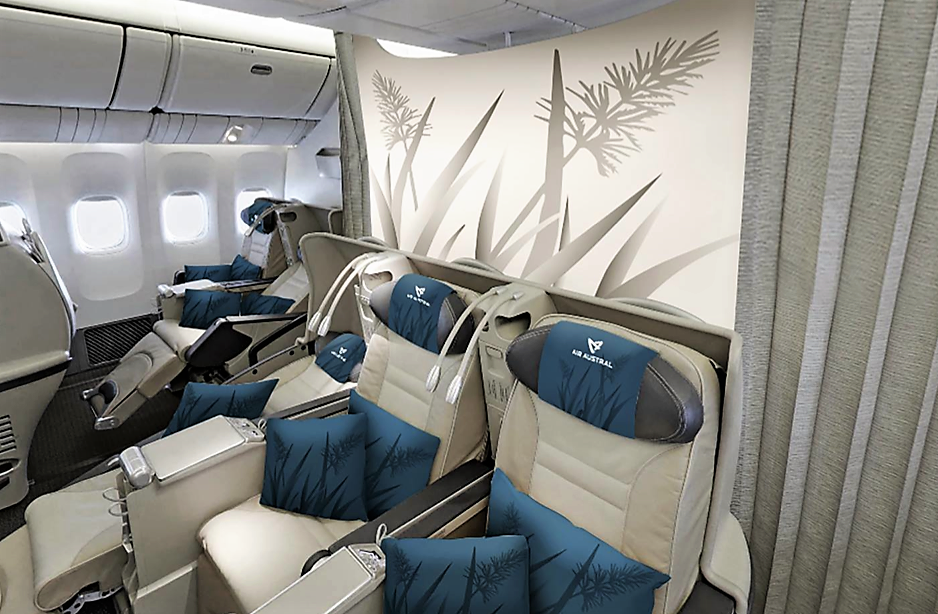 La classe Club Austral (business) d'Air Austral. D.R