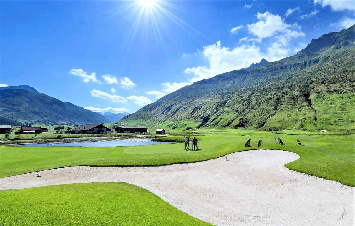L'Andermatt Swiss Alps Golf Course.
