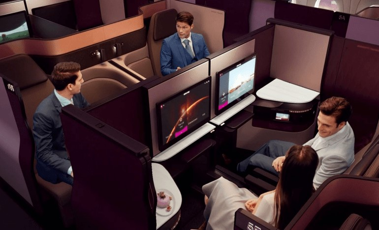La QSuite de Qatar Airways ressemble plus à une First qu'une simple Business Class...
