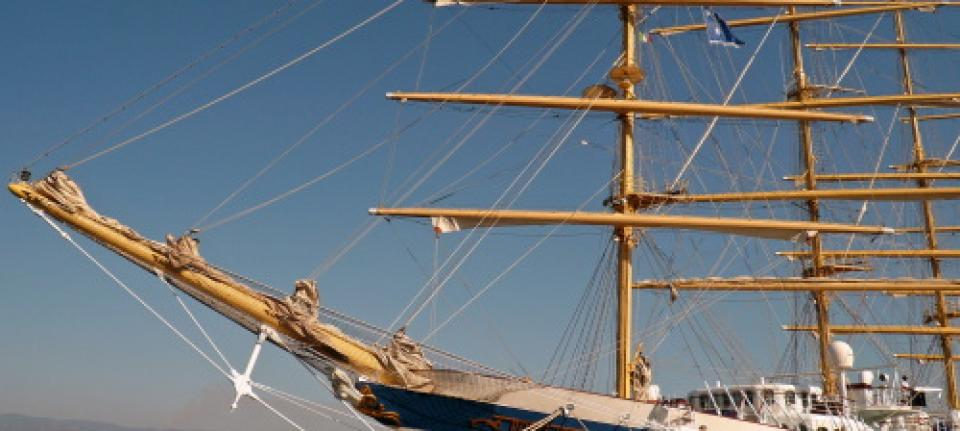 Le Royal Clipper à quai à Corfou